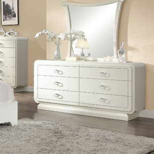 Hassan 6 Drawer Double Dresser with Mirror
