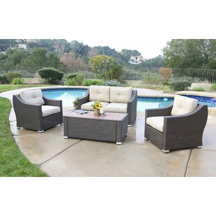 Suai 4 Piece Seating Group with Cushions