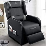 Recliner Chair Racing Style Single Ergonomic Lounge Sofa Modern PU Leather Home Theater Seat for Living Gaming Room