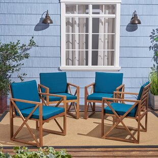 Anneke Patio Chair with Cushions (Set of 4)