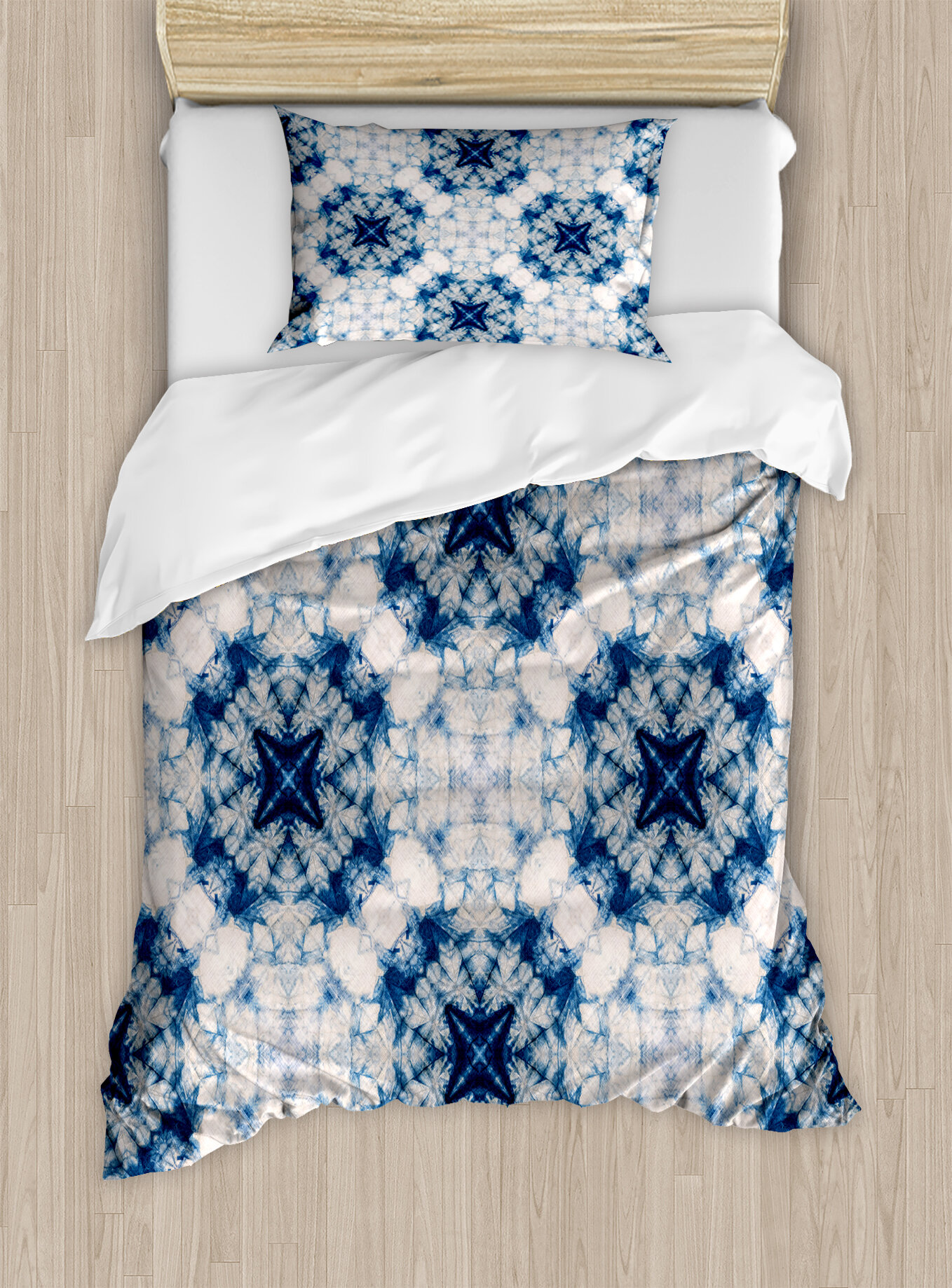 East Urban Home Blue Floral Duvet Cover Set Wayfair