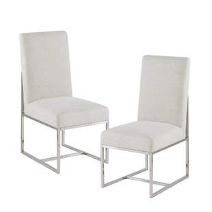 Morven Upholstered Dining Chair (Set Of 2) by Everly Quinn Cool