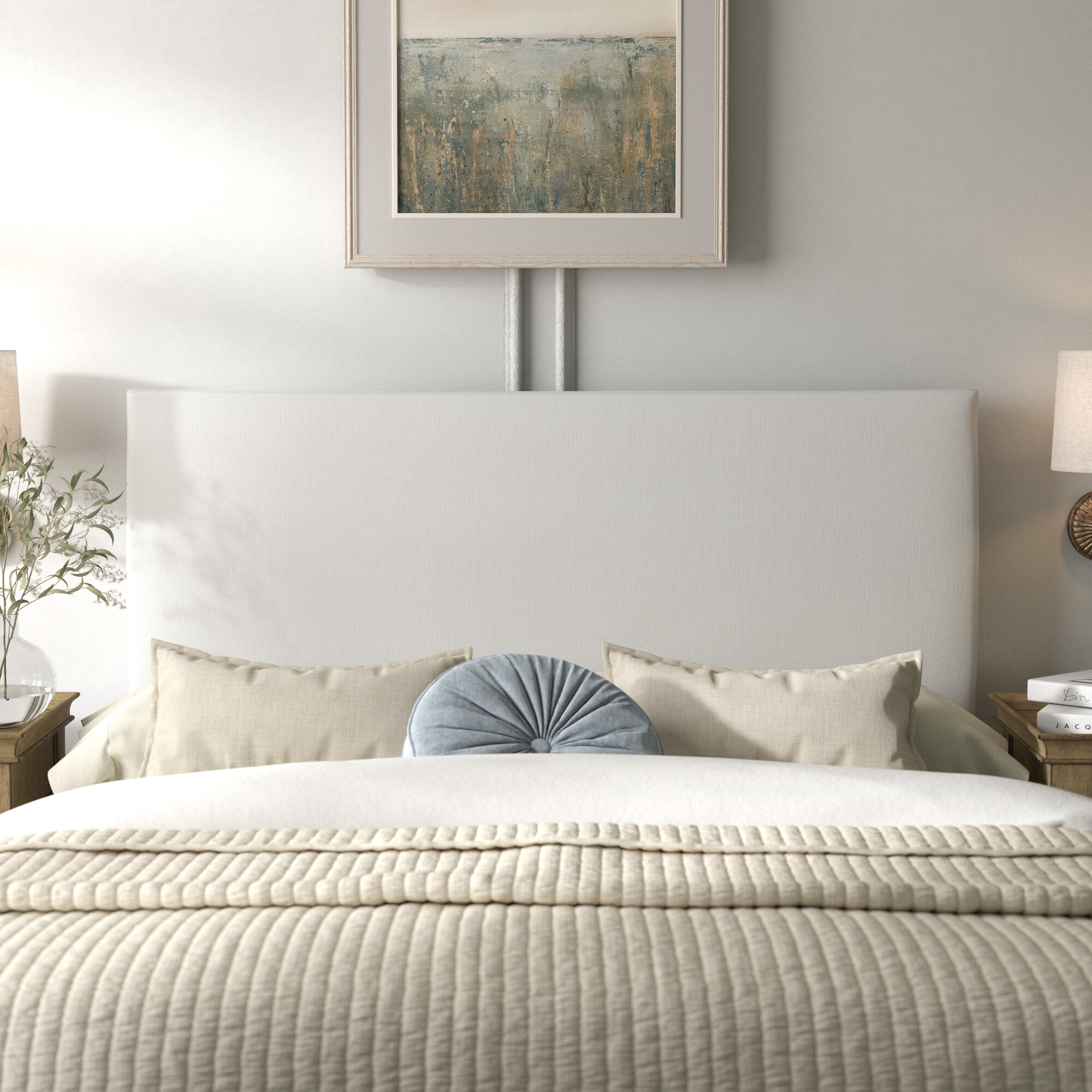 Kelly Clarkson Home Smith Upholstered Panel Headboard Reviews Wayfair