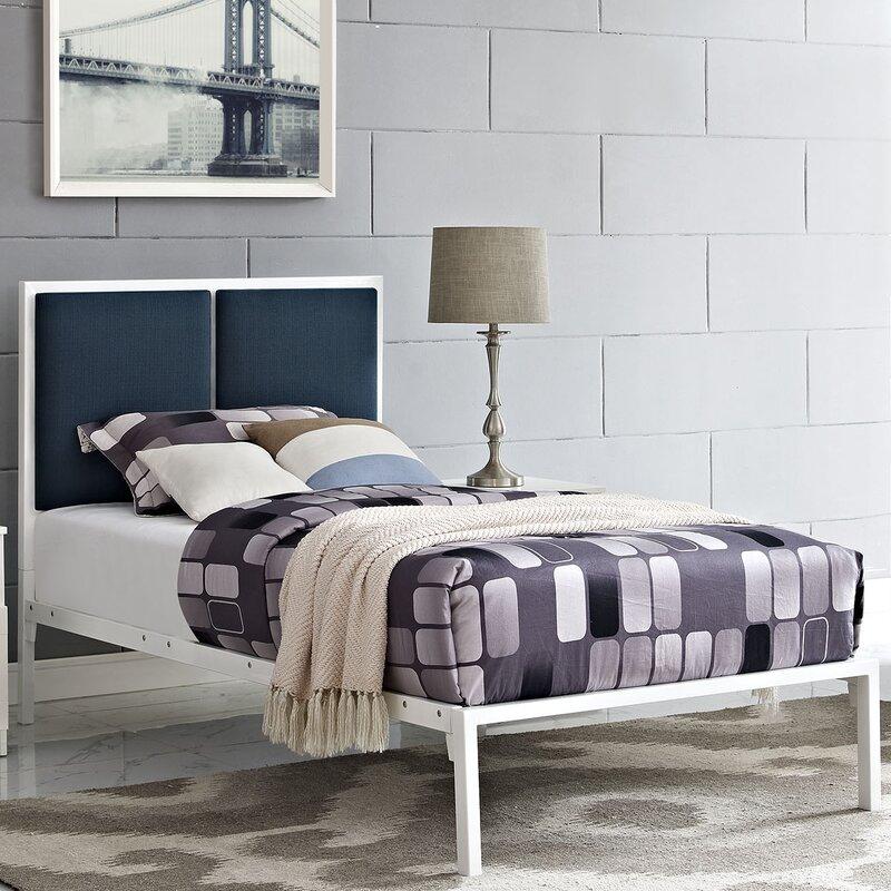 Ebern Designs Campeon Fabric Upholstered Platform Bed