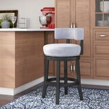 Tomoe 25 Swivel Bar Stool by Everly Quinn