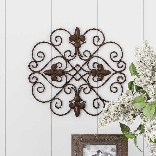 stunning Square Metal Wall Decor Part - 16: Fleur De Lis Living Rounded Square Metal Wall Décor | Wayfair