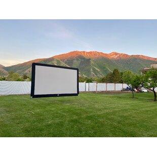 Gray 105 x 130 Portable Folding Frame Projector Screen