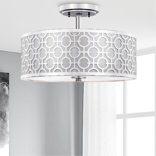 Froman Chain Link 3-Light Semi Flush Mount by Mercer41