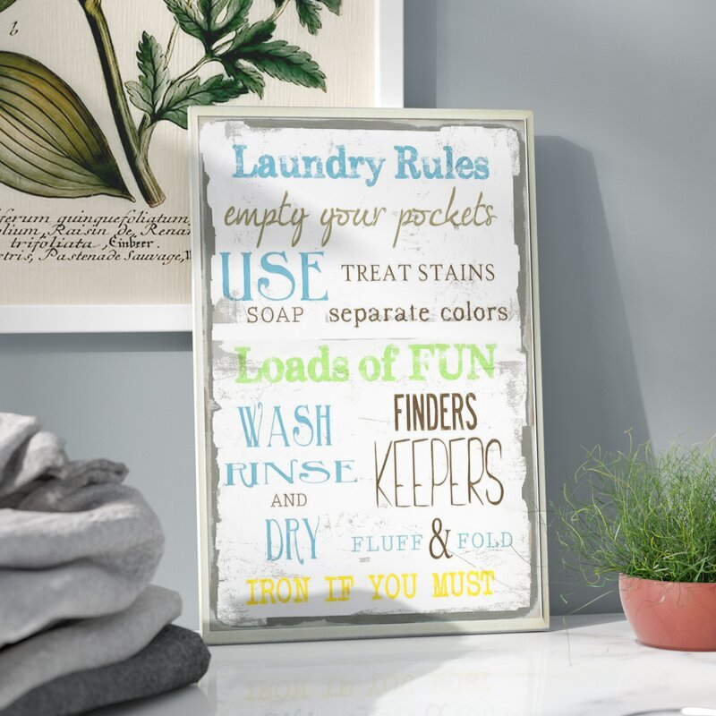 'Jana Laundry Room' Textual Art -- Laundry Typography Decor