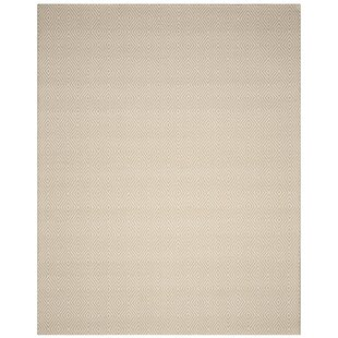 Indianola Handwoven Wool Taupe Area Rug by Ivy Bronx