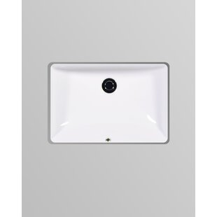 Best Reviews Muse Vitreous China Rectangular Undermount Bathroom Sink with Overflow ByIcera