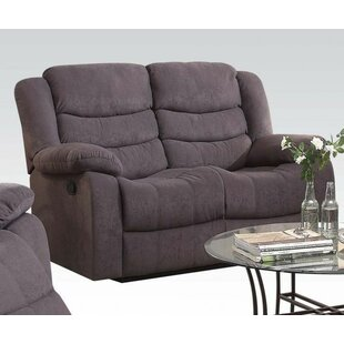 Review Spicewood Upholstered Motion Reclining Loveseat by Winston Porter