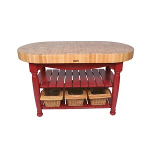 American Heritage Prep Table With Butcher Block Top. By John Boos