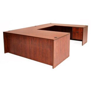Linh U-Shaped Executive Desk with 4 Drawers