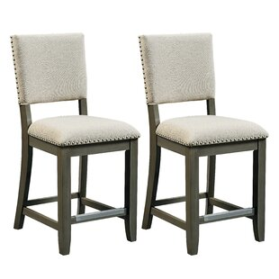 North York 11.17 Bar Stool with Cushion (Set of 2) by Red Barrel Studio