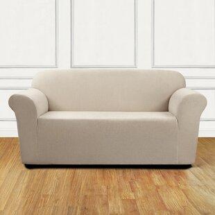 Ultimate Stretch Chenille Box Cushion Loveseat Slipcover
