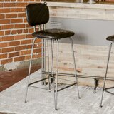 Adele Leatherette 30 Bar Stool by Williston Forge
