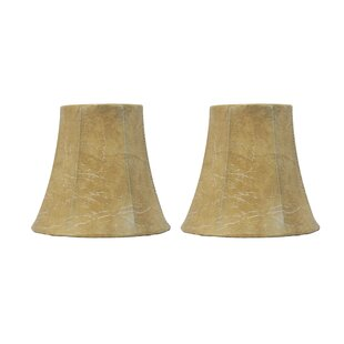 5 Faux Leather Bell Candelabra Shade (Set of 2)