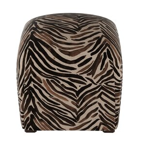 Genevie Washed Zebra Ottoman b..