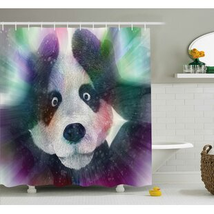 Fabric Psychedelic Panda Shower Curtain By East Urban Home