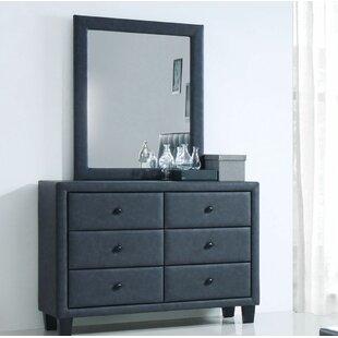 Wrought Studio Kinley 6 Drawers Dresser w..