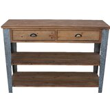 Prima Console Table with Galvanized Legs by Gracie Oaks