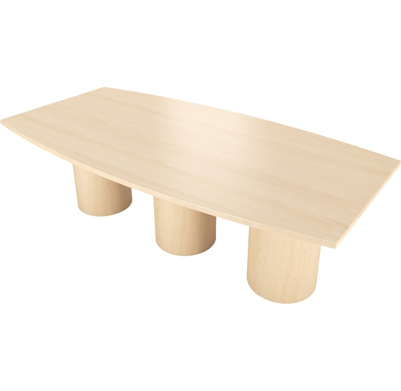 Surfacetech Geometry Collection Boat Shaped Conference Table Wayfair - Oval shaped conference table
