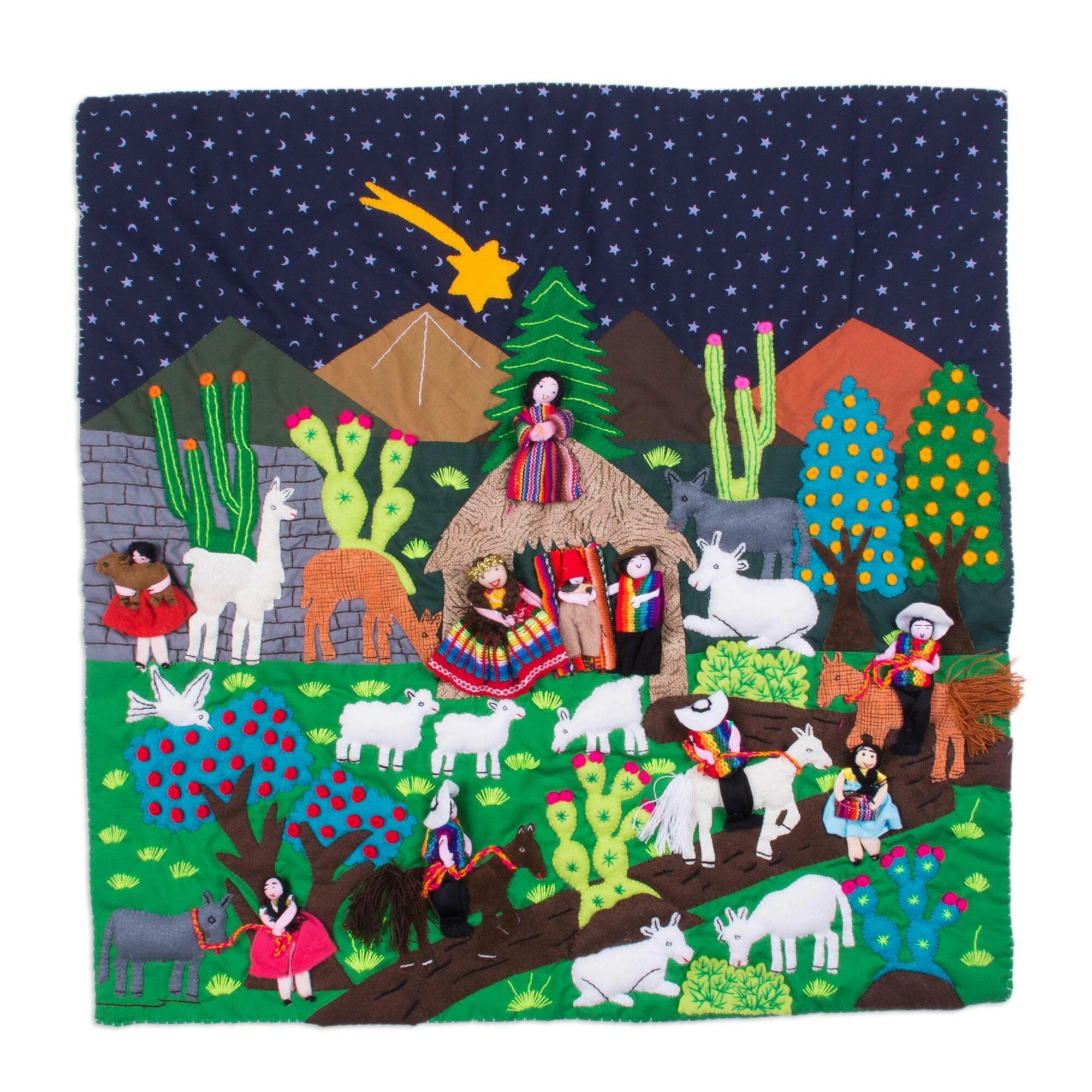 Bloomsbury Market Peru Nativity Arpillera Wall Hanging Wayfair