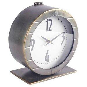 Gray Metal Tabletop Clock