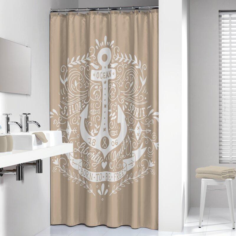 Sealskin Anchor Shower Curtain | Wayfair
