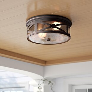 Mackinaw 2-Light Outdoor Flush Mount by Sol 72 Outdoor