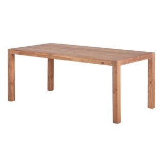 Wren Solid Wood Dining Table by Millwood Pines