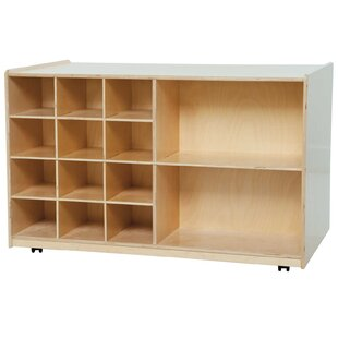 Find a 14 Compartment Cubby with Casters ByWood Designs