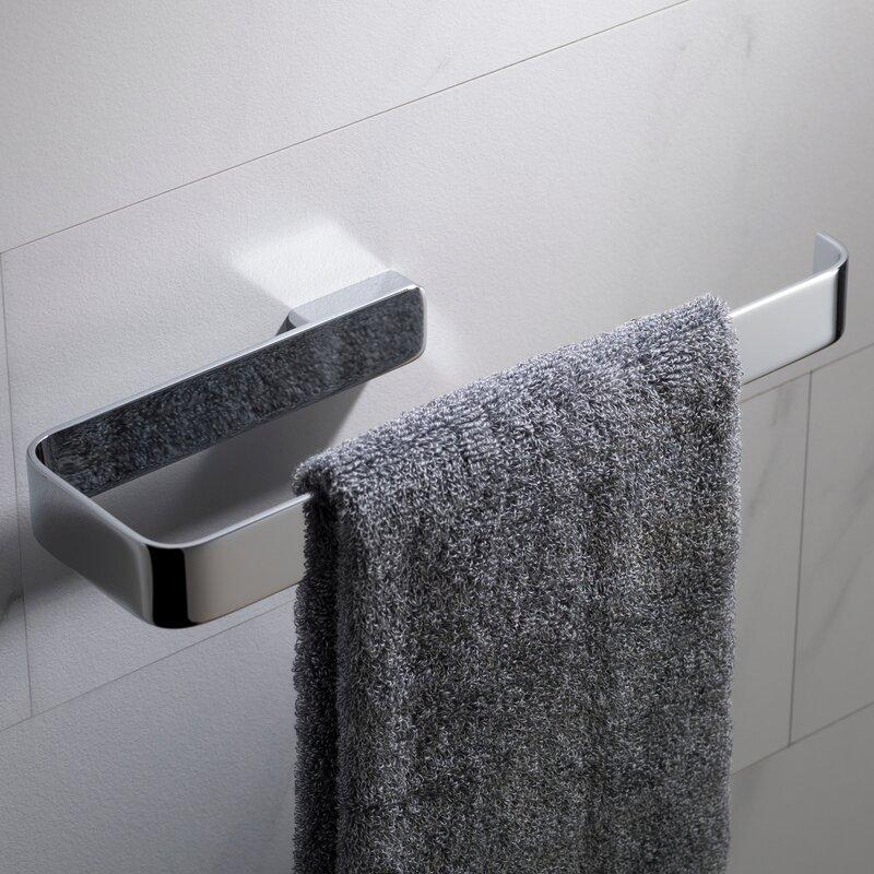 Modern Minimalistic Chrome Square Bathroom Towel Ring Holder Wall Decor Hot