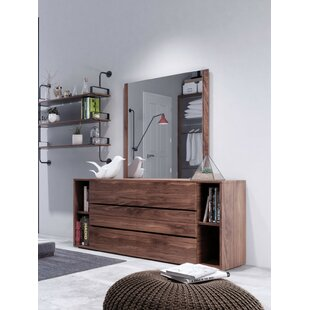 Defalco 6 Drawer Dresser with Mirror