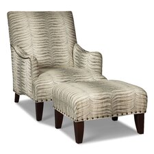English Armchair and ottoman by Fairfield Chair