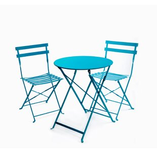 Highland Dunes Fennell 3 Piece Patio Table Set