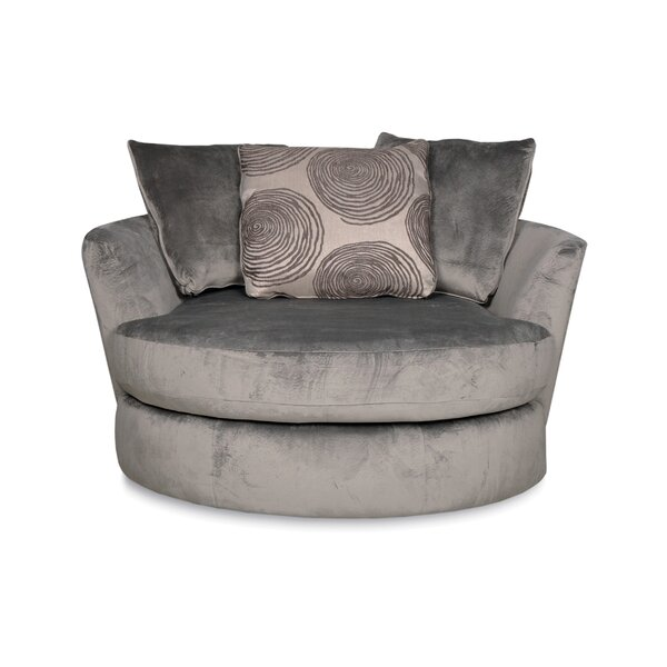 Oversized Round Swivel Chair | Wayfair