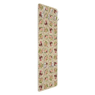 Vintage Roses And Hydrangeas Wall Mounted Coat Rack By Symple Stuff