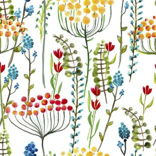 vibrant design modern floral wallpaper. Spring Fields Removable 5  x 20 Floral Wallpaper Kids You ll Love Wayfair