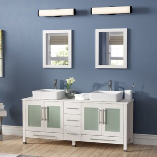 Govea 61 inch  Double Bathroom Vanity Set with Mirror