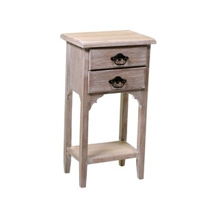 Review Swartz 2 Drawer Bedside Table