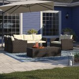 Arlington 5 Piece Rattan Sofa Seating Group with Cushions bySol 72 Outdoor