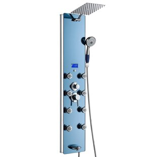 AKDY Tower Pressure Balanced Thermostatic Rain Shower Panel - Includes Rough-In Valve