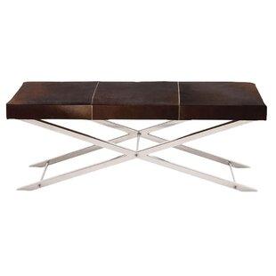 Artisan Leather Bench by Fashion N You Horizon Interseas