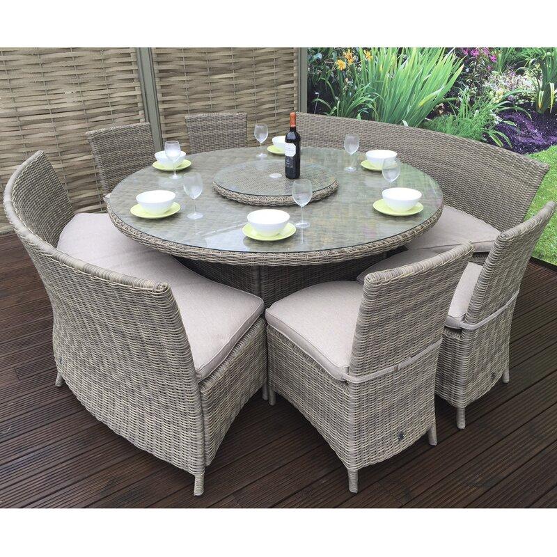 Hokku Designs Cara 10 Seater Dining Set with Cushions ...
