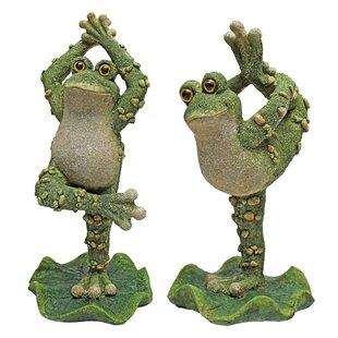 Boogie Down, Dancing Frog Statue (Set Of 2)