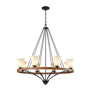 Sapphire 8-Light Wagon Wheel Chandelier by Millwood Pines
