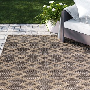 Dondale Chevron Diamonds Brown Indoor/Outdoor Area Rug