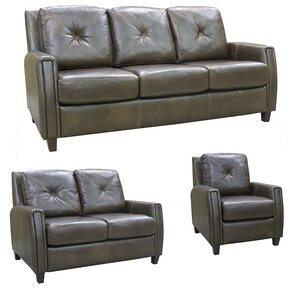 Topeka Leather 3 Piece Living Room Set by Coja